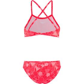 speedo Allover 2 Pieces Bikini Girls dazzlegeo psycho red/powder blush